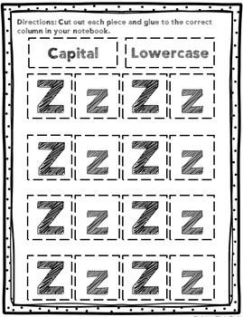 Alphabet Letter Sort (Interactive Notebook)