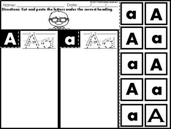Alphabet Letter Sort (Letter Puzzle, Letter Recognition)