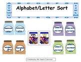 Alphabet Letter Sort and Matching Word Work Literacy Center Activity
