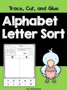Alphabet Letter Sort (lowercase and uppercase)