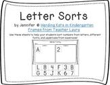 Alphabet Letter Sorting Sheets