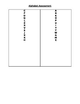 Alphabet & Letter Sound Assessmet