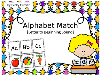 Alphabet Letter Sound Match