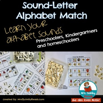 Alphabet Letter-Sound Match - [Task Cards] - Learning to Read