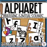 Baseball Alphabet Matching & Initial Sound Matching Activities