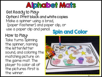 Alphabet Letter Recognition and Letter Sound Sorting Mats