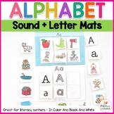 Alphabet Cards Sound Mats - Beginning Alphabet Sounds | Alphabet Mats