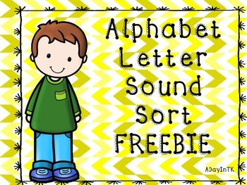 Alphabet Letter Sound Sort FREEBIE