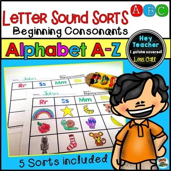 Alphabet Letter Sound Sorts: Beginning Consonants