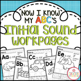 Alphabet Initial Sound Printables {Now I Know My ABC's Series}