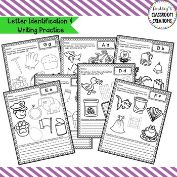 Alphabet, Letter Sound, and Letter Writing Practice Pages - Kindergarten!