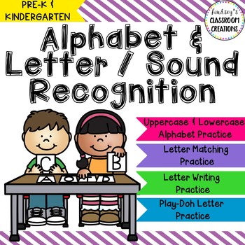 Alphabet, Letter Sound, and Letter Writing Practice Pages