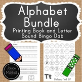 Alphabet Letter Sounds Bingo Dab Book and Alphabet Printing Book K to 1