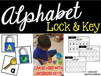 Alphabet & Letter Sounds Lock and Key Literacy Center