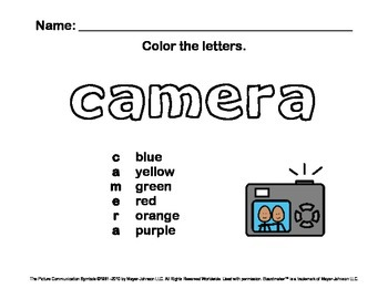 Alphabet Letter Sounds / Phonics Words Package (Color - Letters A-H)