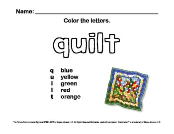Alphabet Letter Sounds / Phonics Words Package (Color - Letters Q-Z)