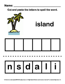 Alphabet Letter Sounds / Phonics Words Package (Spell - Letters I-P)
