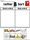 Alphabet Letter Sounds Starts With or Ends With Picture Wo