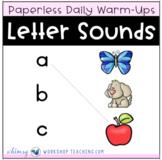 Alphabet Letter Sounds Unit 2 : Paperless Daily Lessons