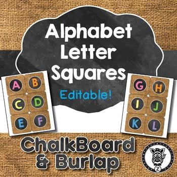 Alphabet Letter Squares