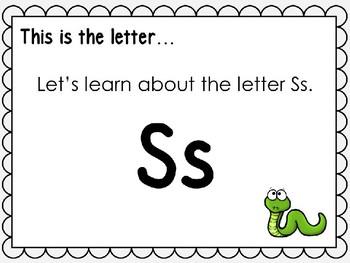 Alphabet Letter Ss Interactive Power Point. Kindergarten