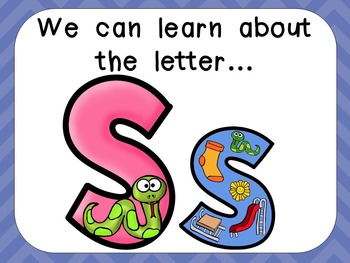 Alphabet Letter Ss PowerPoint Presentation- Letter ID, Sounds, and Handwriting