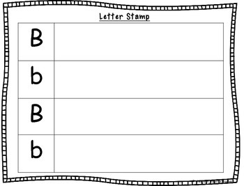 Alphabet Letter Stamping Work Station Activities Freebie!