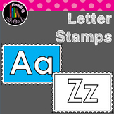 Alphabet Letter Stamps in Color AND B&W
