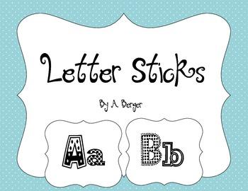 Alphabet Letter Sticks for Letter Matching
