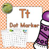 Alphabet Letter T Dot Marker Center
