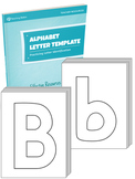 Alphabet Letter Template Set {UPPERCASE + LOWERCASE}