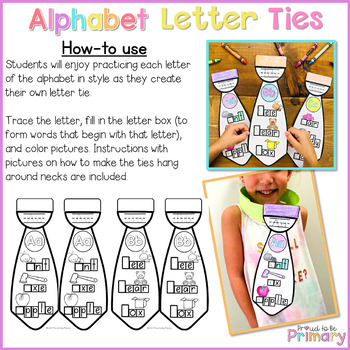 Alphabet Letter Ties  | Distance Learning