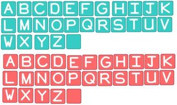 Alphabet Letter Tiles FREE