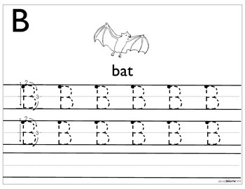 Prek/Kindergarten Alphabet Letter Tracing