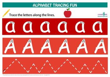 Alphabet Letter Tracing Mats (Standard Print)