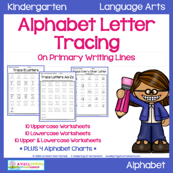 Alphabet Letter Tracing On Primary Writing Lines