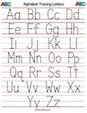 Alphabet Letter Tracing Sheet