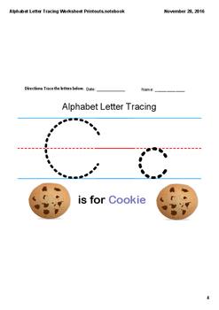 Alphabet Letter Tracing - Worksheet Printouts - Pre-K - 1 - Letters A - Z