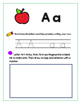 Alphabet Letter Tracing and Art Worksheet Set