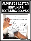 Alphabet Letter Tracing and Beginning Initial Sounds Matching