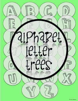 Alphabet Letter Trees A-Z