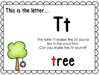 Alphabet Letter Tt Interactive Power Point. Kindergarten