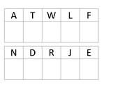 Alphabet Letter Uppercase Sort & Match Mats