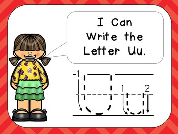 Alphabet Letter Uu PowerPoint Presentation- Letter ID, Sounds, and Handwriting
