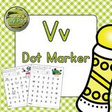 Alphabet Letter V Dot Marker Center