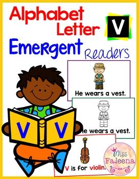 Alphabet Letter V Emergent Readers