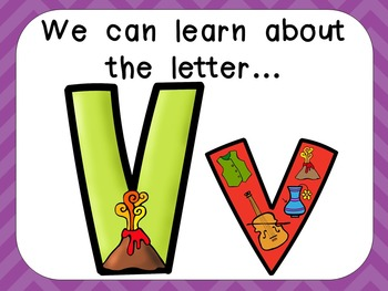 Alphabet Letter Vv PowerPoint Presentation- Letter ID, Sounds, and Handwriting