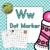 Alphabet Letter W Dot Marker Center