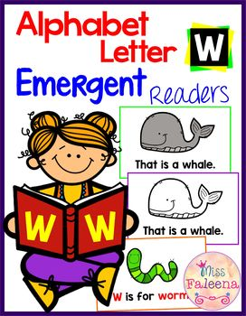 Alphabet Letter W Emergent Readers