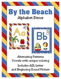 Alphabet Letter Wall Decor - By the Beach - ASL Letter Beg